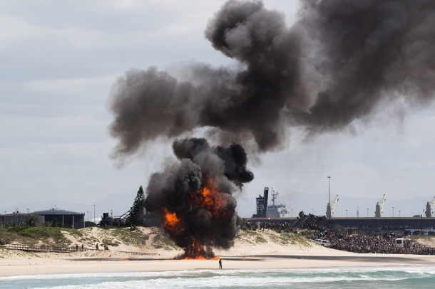 Fire at King's Beach
