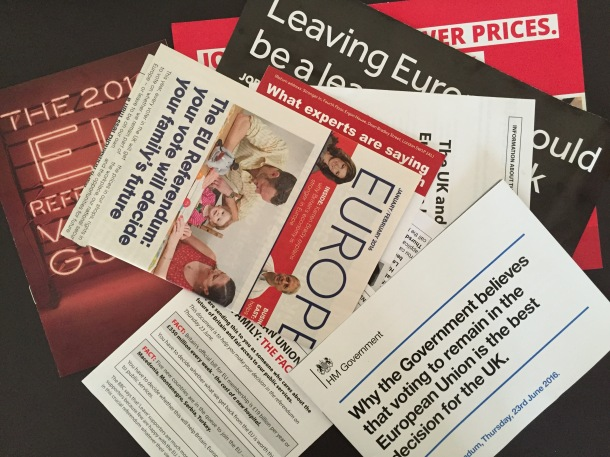 Lost in information - EU referendum leaflets