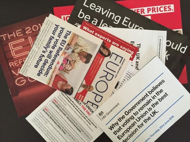 Lost in information - EU referendum leaflets
