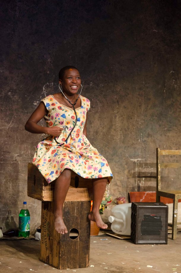 Chuma Sopotela performs in a scene from Karoo Moose, written and directed by Lara Foot, CuePix/Harold Gess - NAF 2016