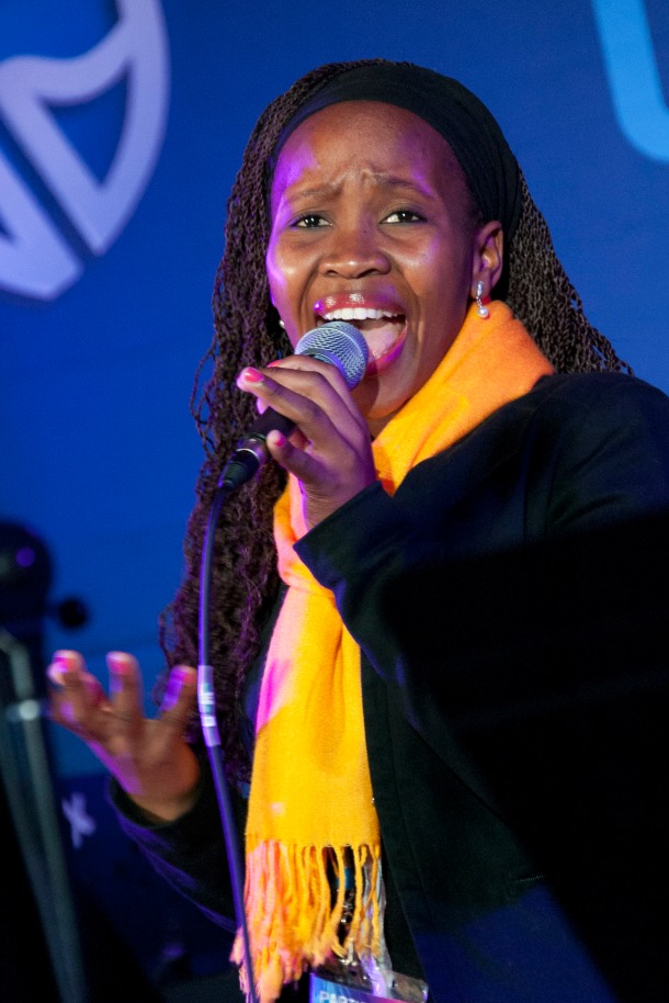 Nthabiseng Mlambo sings in the Youth Jazz Vocals in the DSG Auditorium at the National Arts Festival, Grahamstown Photo: CuePix/Gemma Middleton - NAF 2016